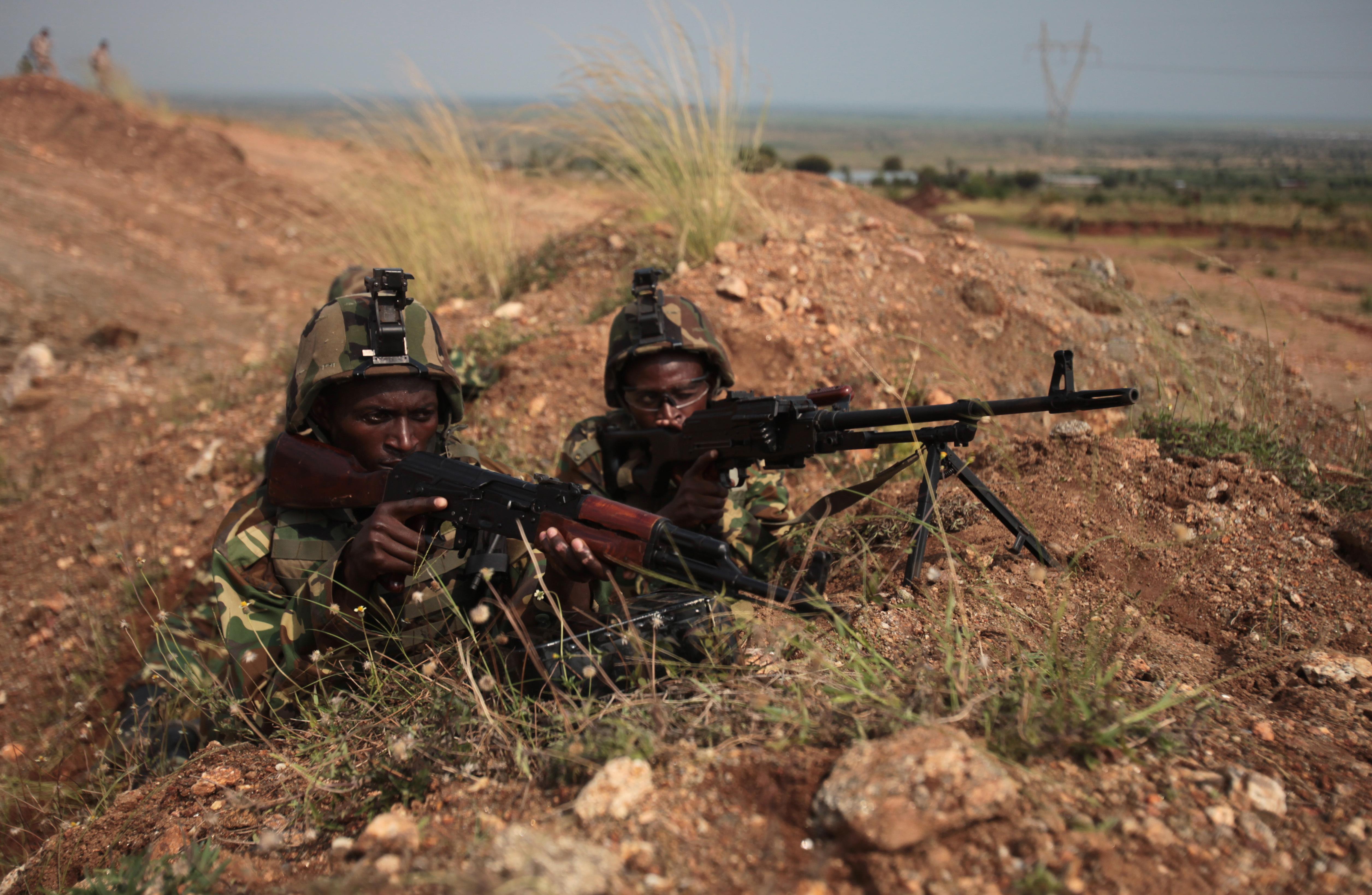 AMISOM-Soldaten bereiten sich auf ihren Einsatz in Somalia vor. Foto CC Lance Cpl. Adwin Esters